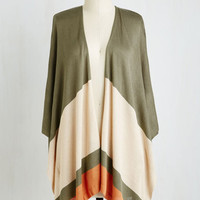 Colorblocking Mid-length 3 With Drape Success Cardigan