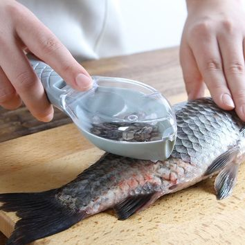 1 Pcs Multifunctional Fish Cleaning Tool Killing Scraping Scales With Knife Device Home Kitchen Cooking Accessories