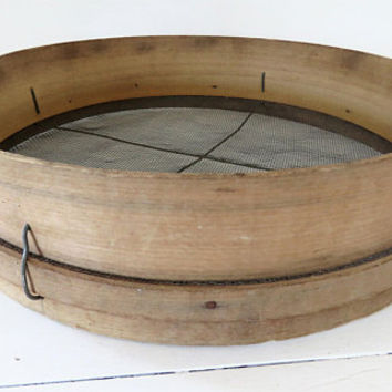 Vintage French, Wooden, Flour Sieve