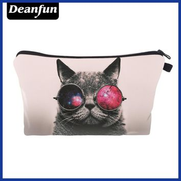 Deanfun Cat Cosmetic Bags 3D Printed Zipper 2017 Hot Sale Women's Make Up Travel Storage Fashion Cute 50178