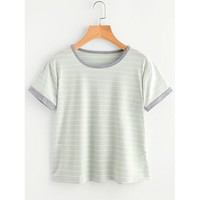 Striped Ringer Tee Casual