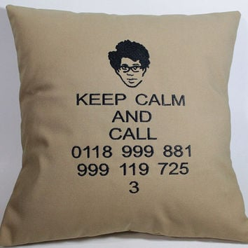 SALE IT Crowd inspired Embroidered Pillow Case Cover