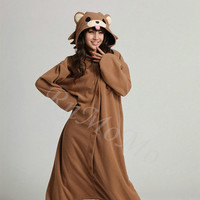KIGURUMI Animal Pajamas Pyjamas Costume Onesuit Adult / Kid SLOTH-pedobear