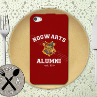 Hogwarts Alumni Harry Potter Inspired Gryffindor Crest Custom Rubber Tough Phone Case For The iPhone 4 and 4s and iPhone 5 and 5s and 5c