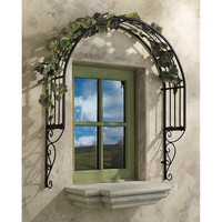 Design Toscano Thornbury Ornamental Garden Window Trellis Wall Decor
