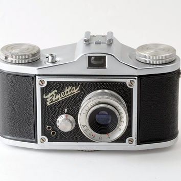Finetta IV D 35mm 1950s Camera with Leather Case Working