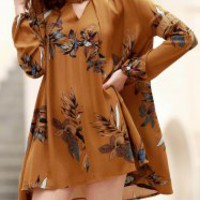 Chic Round Neck Long Sleeve Cheap Online Sale   Gamiss.com