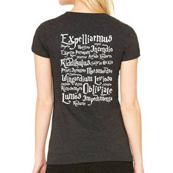 Deathly Hallow and Spells Women Clothing T-shirt