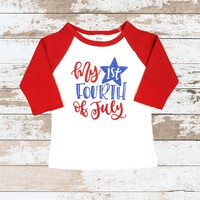 My First 4th of July Red Raglan