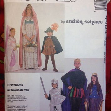Medieval Costumes Pattern McCall's 4404- Vintage 1980's