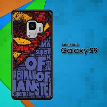 Superman Logo V1727 Samsung Galaxy S9 Case