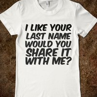 SHARE YOU LAST NAME