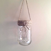 Mason Jar Lantern, Home Decor, Housewares, Mason Jar Vase