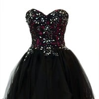 Azaria Style 5398 Black Homecoming Dress