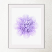Printable art, Violet purple Flower home decor, Flower wall print, Spring floral art Flower wall art print, Violet flower art Bathroom decor
