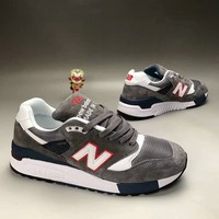 """New Balance 998"" Unisex Sport Casual N Words Multicolor Retro Sneakers Couple Running Shoes"