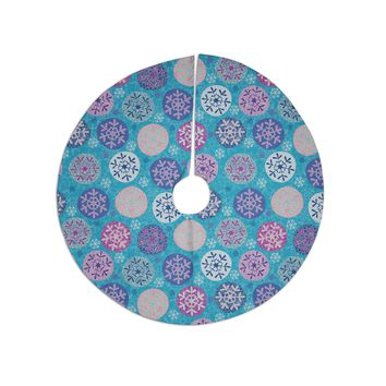 "Julia Grifol ""Floral Winter"" Tree Skirt"
