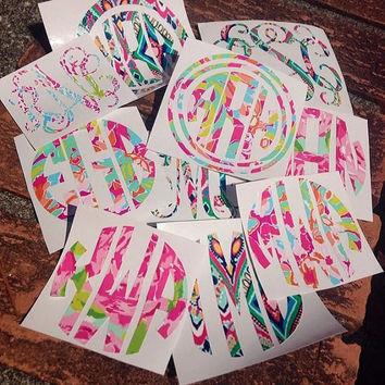 Lilly Pulitzer Preppy Monogram Decal