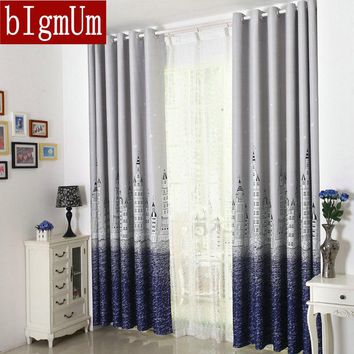 Hot Sale! Eco-friendly Printed  Curtains For Kids / Children / Boys / Girls / Princess Customized Ready Made Blackout