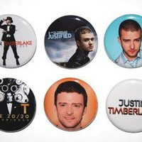 Justin Timberlake Buttons Pins Badge Shirt Hoodie 20/20 Experience Tour CD NSYNC