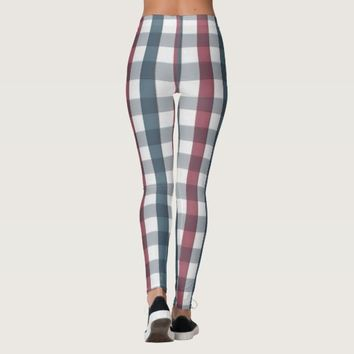 patriotic plaid leggings