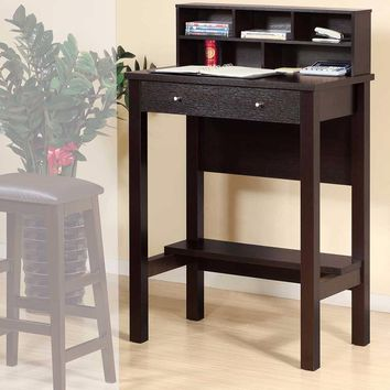 Contemporary Style Standing Desk With 1 Open Shelf.