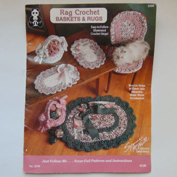 Rag Crochet Baskets and Rugs Suzanne McNeill Design Originals 2238 Craft Sewing Pattern