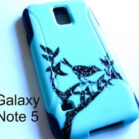Galaxy Note 5 OTTERBOX Case - Otterbox Commuter Glitter Case for Galaxy Note 5 - Sparkly bird, New Samsung Galaxy Note 5