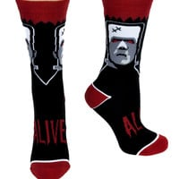 Monster Frankenstein Dress Crew Socks Alternative Gift Clothing
