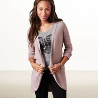 AE Waffle Pocket Cardigan | American Eagle Outfitters