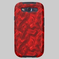 Red Silk Samsung Galaxy S III Case Galaxy S3 Cases from Zazzle.com