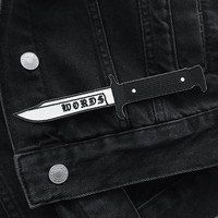 Words like Knives Patch by Life Club - patches, knife patch, denim jacket, leather jacket, embroidered patch, punk patch, iron on patch