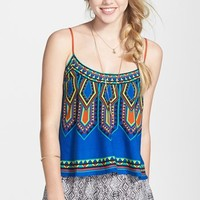 Flying Tomato Print Woven Tank (Juniors) (Online Only)