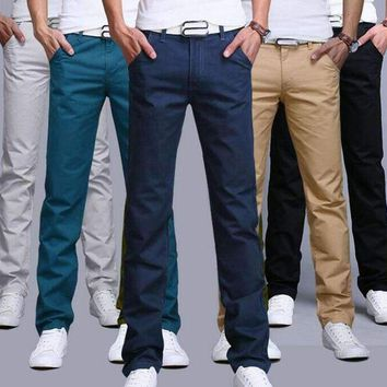 2018 New Fashion Mens pants Straight Cargo Pants Chinos Casual Slim Fit summer skinny Suit Pants business style Trousers JYT01-1