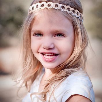 DAISY Flower Girl Halo Headband by UntamedPetals on Etsy