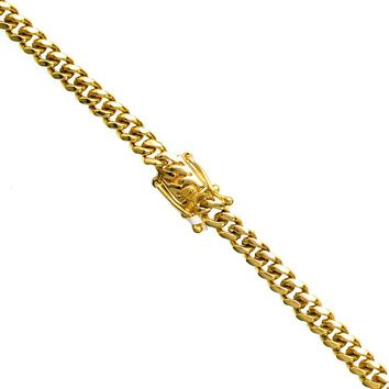 14KT Solid Yellow Gold Handmade 5.75MM Miami Cuban Link Chain