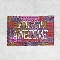 You Are Awesome Rug- Multi 2X3