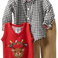 Mud Pie Baby Boys' Reindeer 3 Piece Set, Multi Colored, 9 12 Months