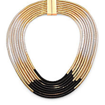 ABS by Allen Schwartz Jewelry - Color Mix Ombré Multi-Row Coil Necklace - Saks Fifth Avenue Mobile