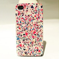 Nice Colourful Triangle Hard Cover Case For Iphone 4/4s