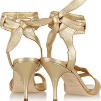 Brian Atwood Temptation metallic leather sandals – 56% at THE OUTNET.COM