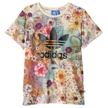 shosouvenir : Adidas Originals Women Fashion Flowers Print T-shirt