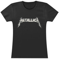 Metallica Women's  Sliced Logo Girls Jr Black