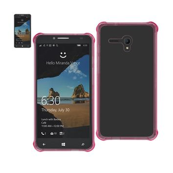 New Mirror Effect Protection Case In Clear Hot Pink For Alcatel One Touch Fierce XL
