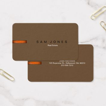 Retro Brown Orange Business Card