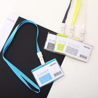 12pcs Sale Office and School Supplies Factory Indexes & Stamps Company id Holder Work Permit Card Badges Tag Card Sets Lanyard