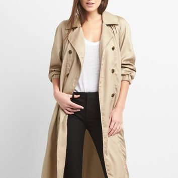 TENCEL™ Drapey Trench Coat | Gap
