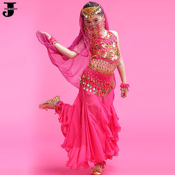 Cheap Belly Dance Costume 6 Pcs Roupas Fitness Femininas Red/Rose/Yellow Mermaid Costume Skirt Indian Clothes Fashion DQ2011