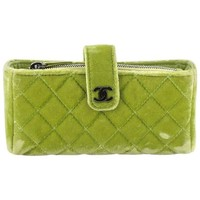 Chanel Chain Phone Holder Crossbody Bag Quilted Velvet Mini