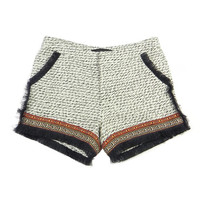 Black Casablanca Fringed Shorts